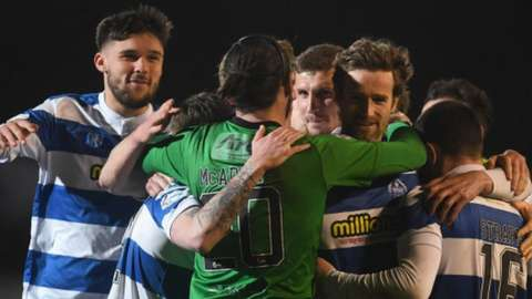 Greenock Morton celebrate