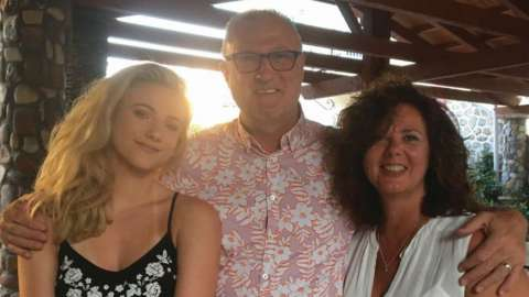 Garry and Samantha Birtles with their daughter Elyshia