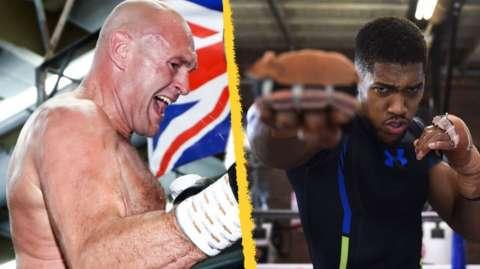 Tyson Fury and Anthony Joshua