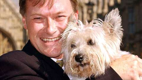 Conservative MP David Amess seen in September 2003