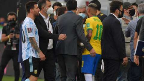 Brazil Argentina was halted after covid health regulation issues