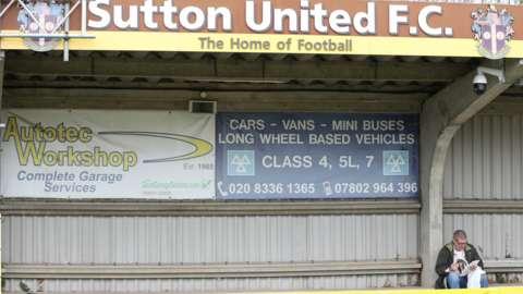 Sutton United's Gander Green Lane home