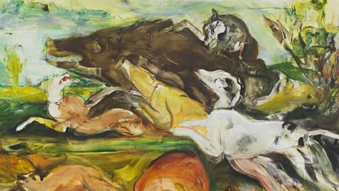 Hunt After Frans Snyders, 2019 by Cecily Brown