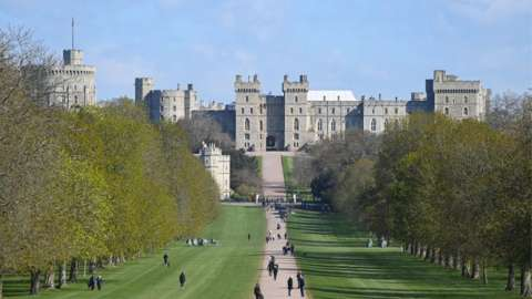 Windsor Castle on Tuesday