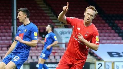 Danny Johnson scores for Leyton Orient