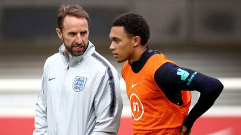 Gareth Southgate and Trent Alexander-Arnold