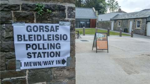 A Cardiff polling station