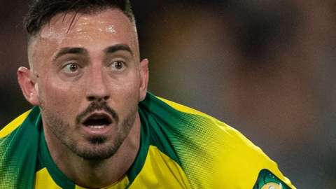 Josip Drmic in action for Norwich City