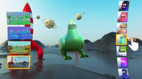 Video game featuring a cartoon dinosaur