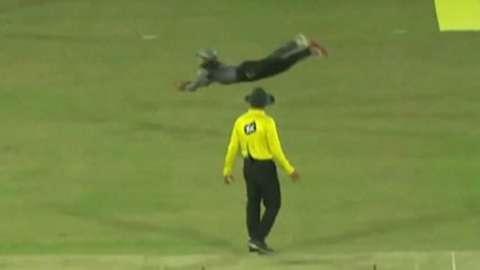 Pakistan's Mohammad Rizwan takes incredible 'Superman' catch