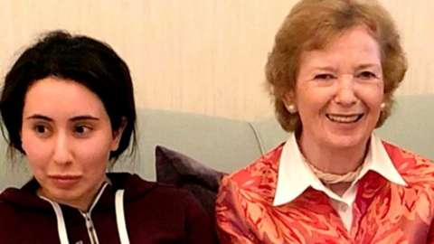 Latifa and Mary Robinson