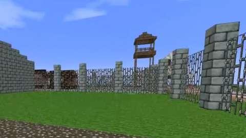 A Nazi camp built in Minecraft