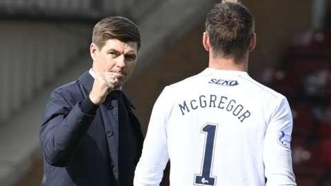Steven Gerrard and Allan McGregor