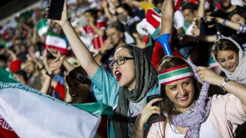 Female Iranian football fans