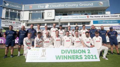 Essex finished top of Division Two