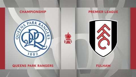 QPR v Fulham badge graphic