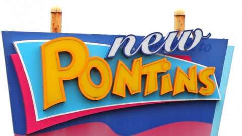 Sign for Pontins holiday park