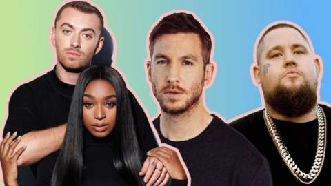 Sam Smith with Normani, and Calvin Harris with Rag 'N' Bone Man
