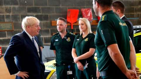 The PM with paramedics