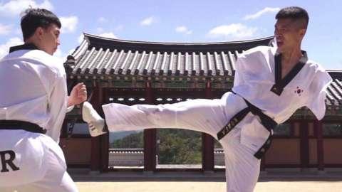 Para-taekwondo athletes