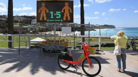 Social distancing in Sydney