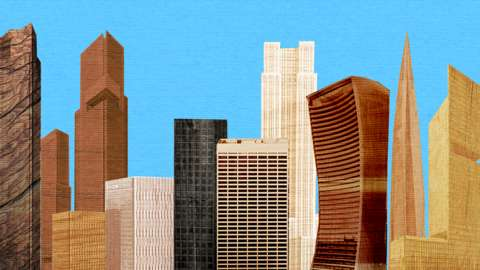 Animation of buildings made from wood