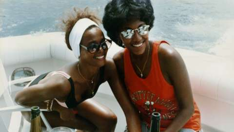 Whitney Houston and Robyn Crawford in the 1980s