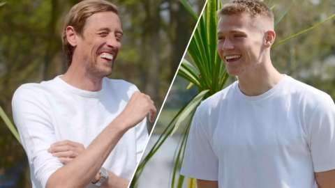 Peter Crouch and Scott McTominay