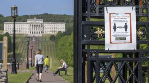 Socially-distant walking on the Stormont Estate