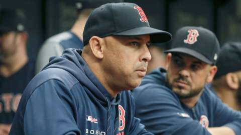 Bostion Red Sox manager Alex Cora