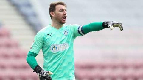 Wigan goalkeeper Jamie Jones