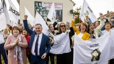 Families of the victims gathered in Ballymurphy following the inquest