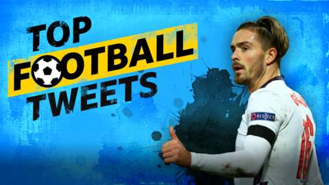Top Football Tweets: cut-out of Jack Grealish