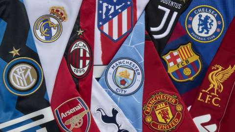 The 12 clubs involved in the European Super League