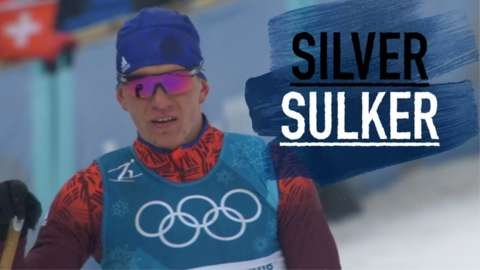 Russia's Alexander Bolshunov manages tot ake only take silver after he finishes second behind winner Iivo Niskanen