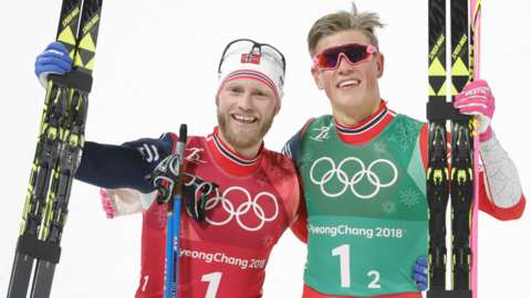 Johannes Hoesflot Klaebo and Martin Johnsrud Sundby