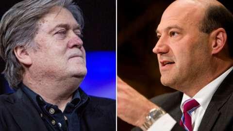 Steve Bannon and Gary Cohn