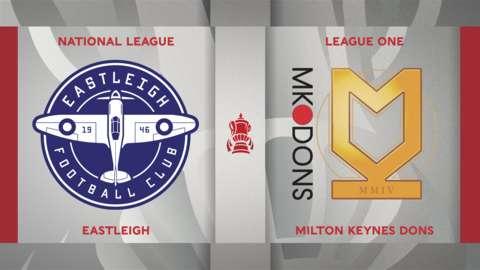 Eastleigh v MK Dons badge graphic