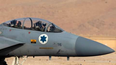 Israeli F-15 jet