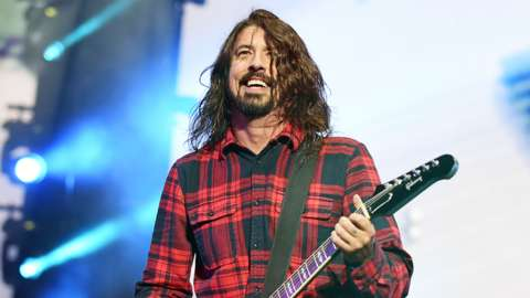 Dave Grohl of Foo Fighters performing on the Main Stage for Radio 1's Big Weekend, Earlham Park, Norwich