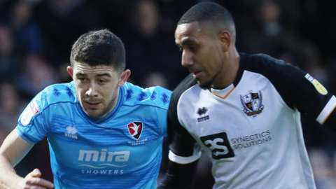 Cheltenham and Port Vale were both in play-off contention when coronavirus halted the League Two season