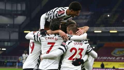 Man Utd celebrate
