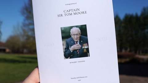 Order of service for Captain Sir Tom Moore's funeral