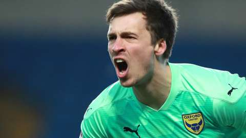 Oxford United goalkeeper Jack Stevens