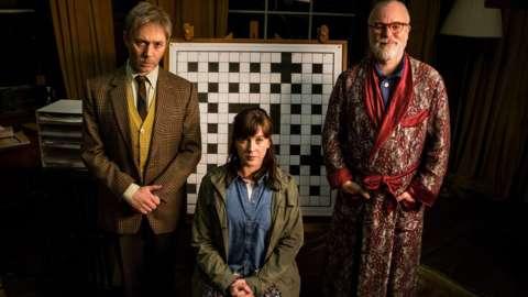 Reece Shearsmith, Alexandra Roach and Steve Pemberton