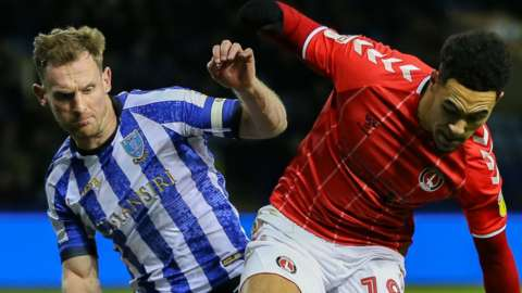 Charlton Athletic midfielder Andre Green on the ball against Sheffield Wednesday