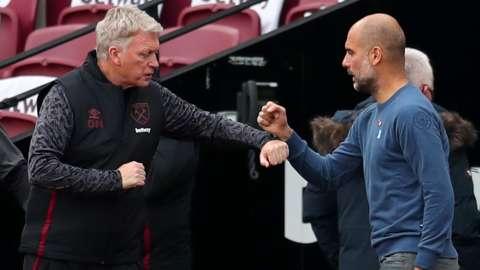 David Moyes and Pep Guardiola