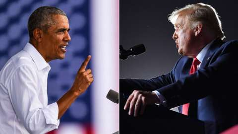 Obama and Trump rally in Florida