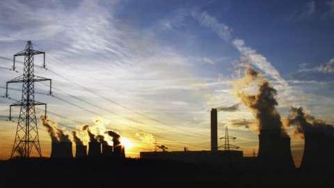 drax power station, burning coal
