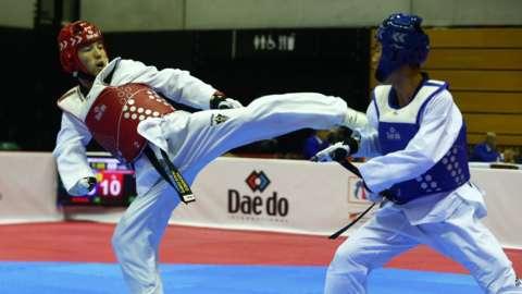 Para-taekwondo action from the 2017 World Championship